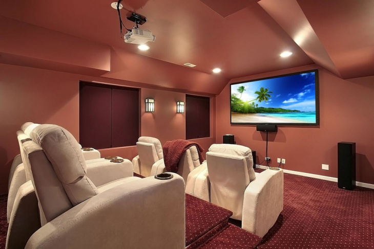 Transitional Home Theater Design