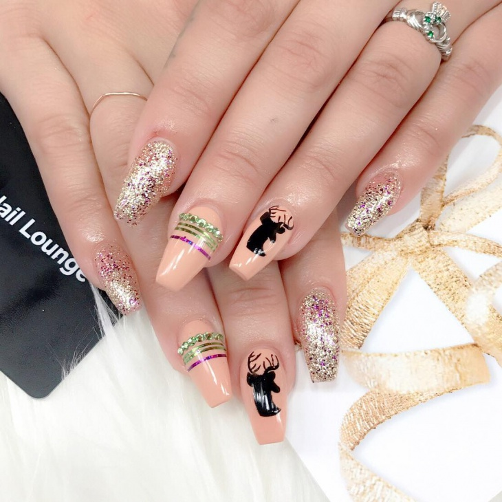 Cute Bling Nails Design
