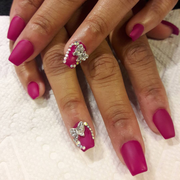 Bling Nail Design for Square Nails