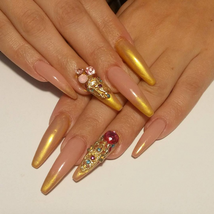 Images of nail art with bling : Bling nail design for short nails