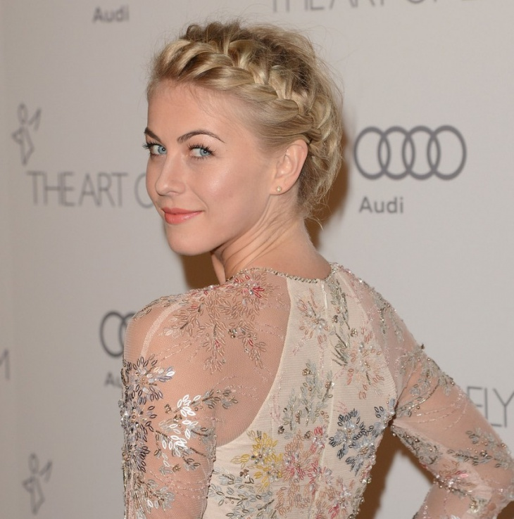 Julianne Hough Headband French Braid Hairstyle