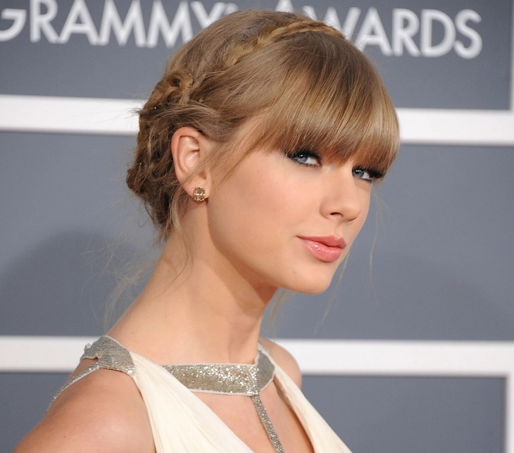 Taylor Swift French Braid Updo Hair Design