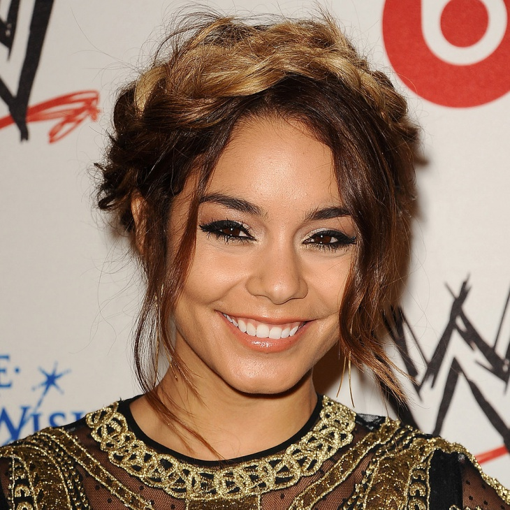 Vanessa Hudgens Messy French Braid Hairstyle