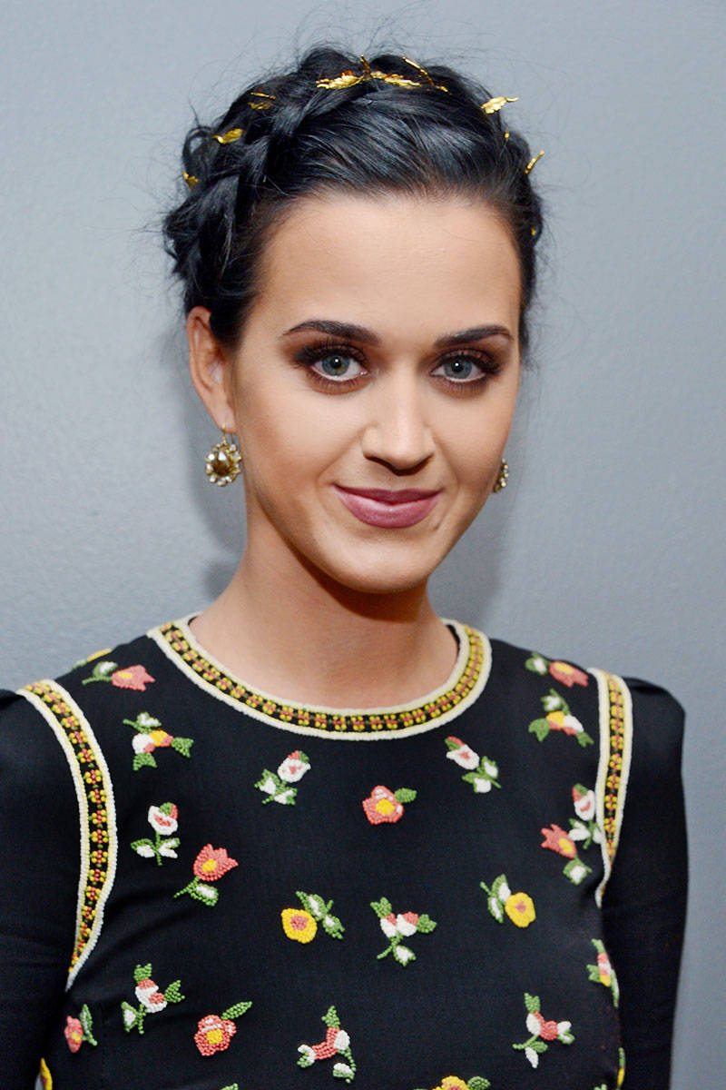 Katy Perry French Braid Hairstyle for Prom