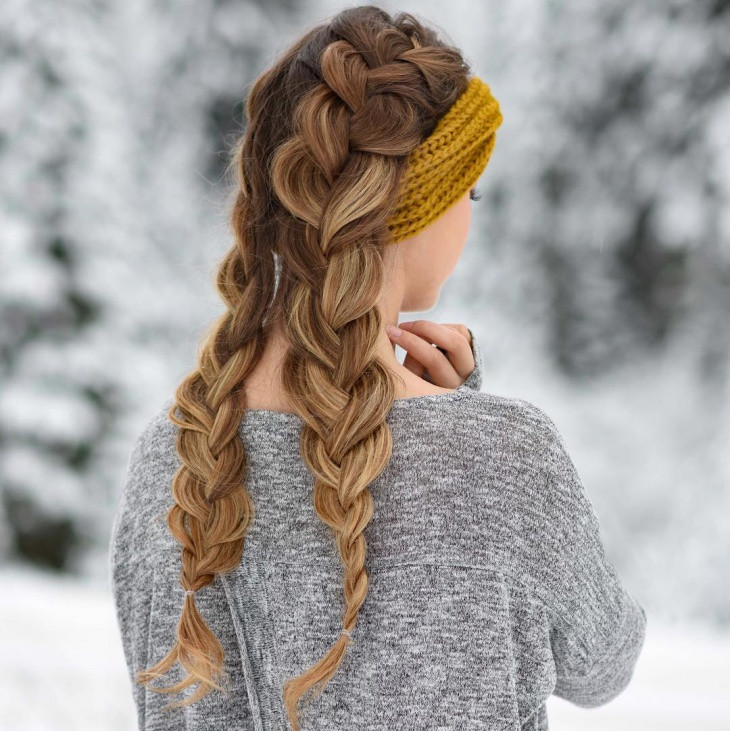 Double French Braid Hairstyle Design