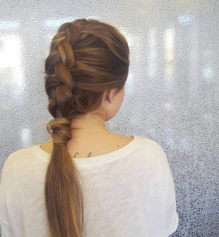 Inverted French Braid Hairstyle Design