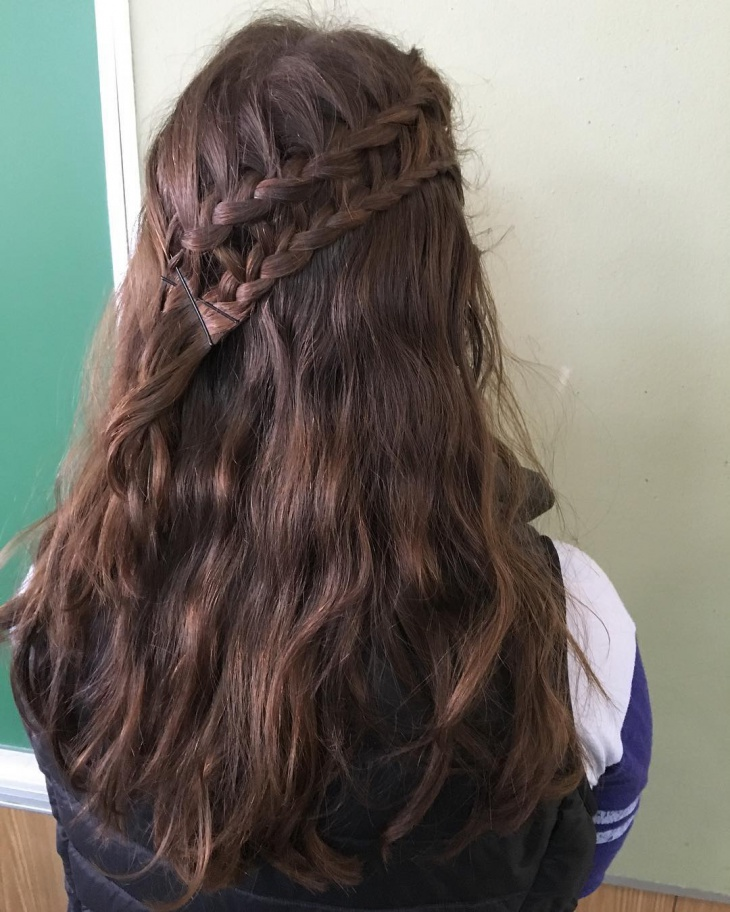 simple french braid hairstyle idea