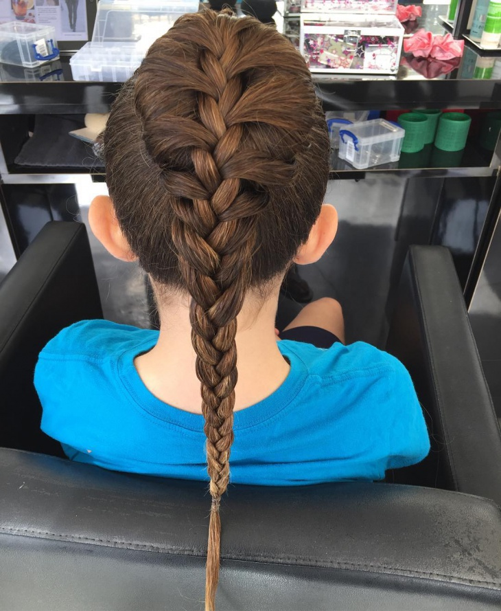 French Braid Hairstyle for Kid's