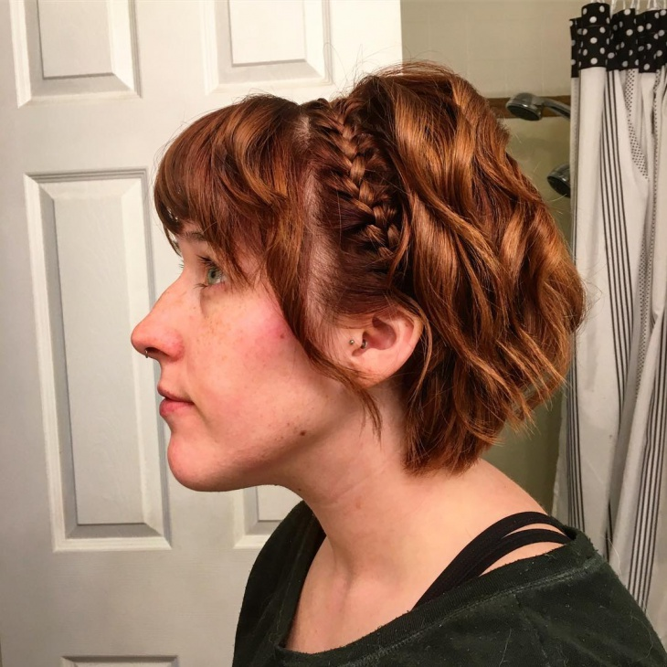 french briad hairstyle for short hair