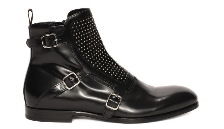 Studded Buckle Monk Shoe Design
