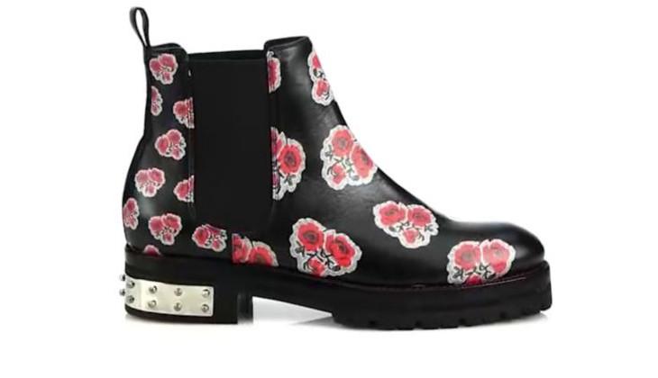 floral print mcqueen shoe design