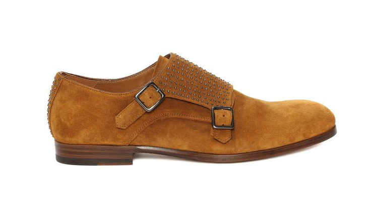 studded buckle monk strap mcqueen shoe