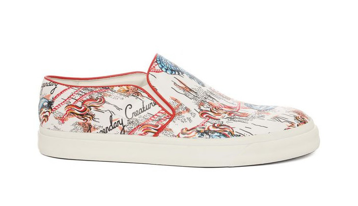 multicolor slip on mcqueen shoe