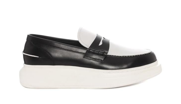 Black and White McQueen Shoe Design