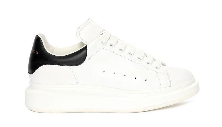 cool white mcqueen shoe design