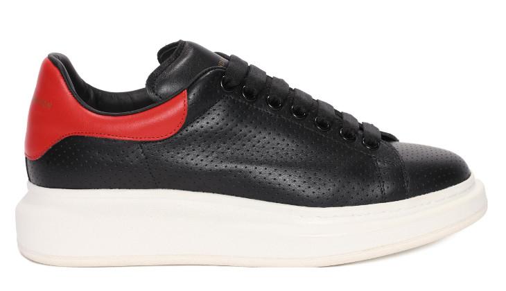 black leather mcqueen shoe design