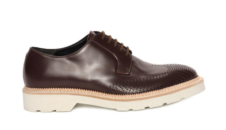 Brown Leather McQueen Shoe Design