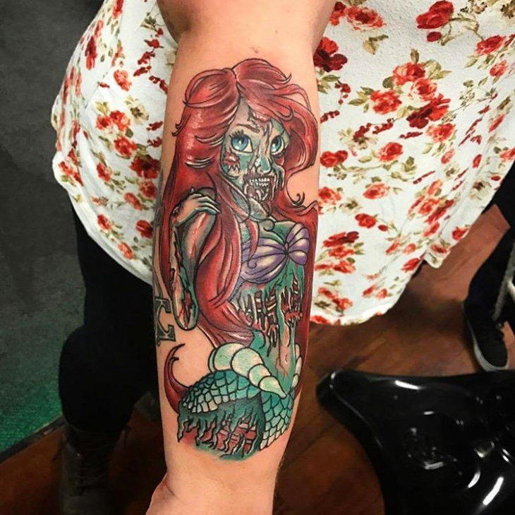 Zombie Girl Tattoo Design