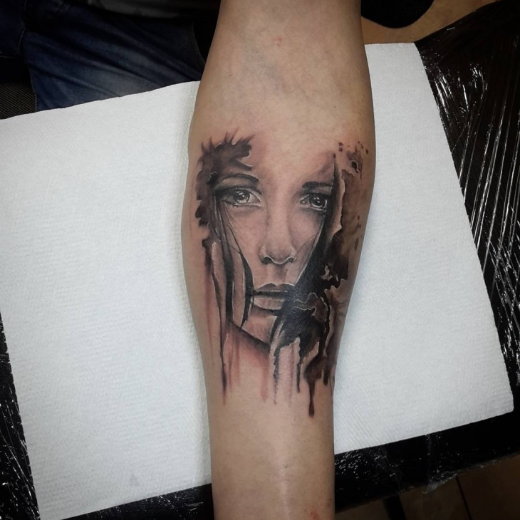 Unique Girl Tattoo Design