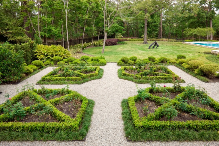 formal garden landscape design