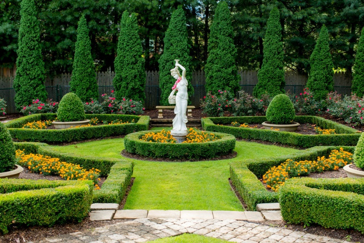 18 formal garden designs ideas design trends premium for Design your backyard landscape
