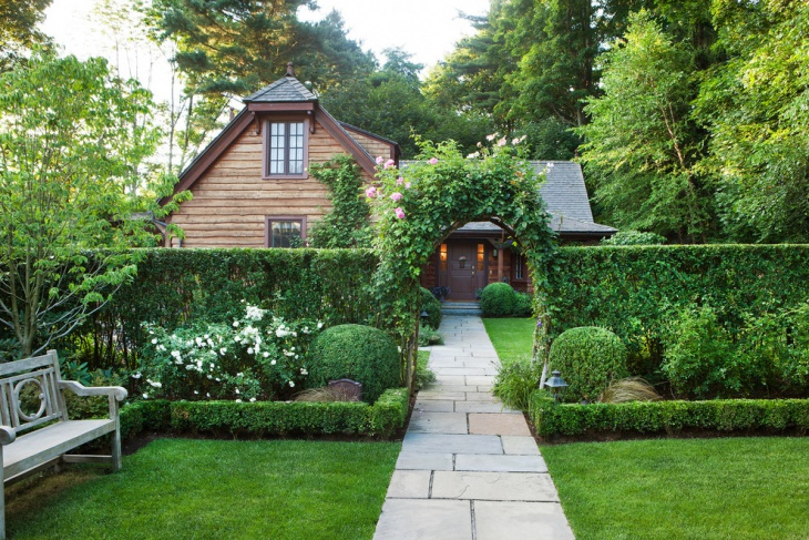 formal garden entry design
