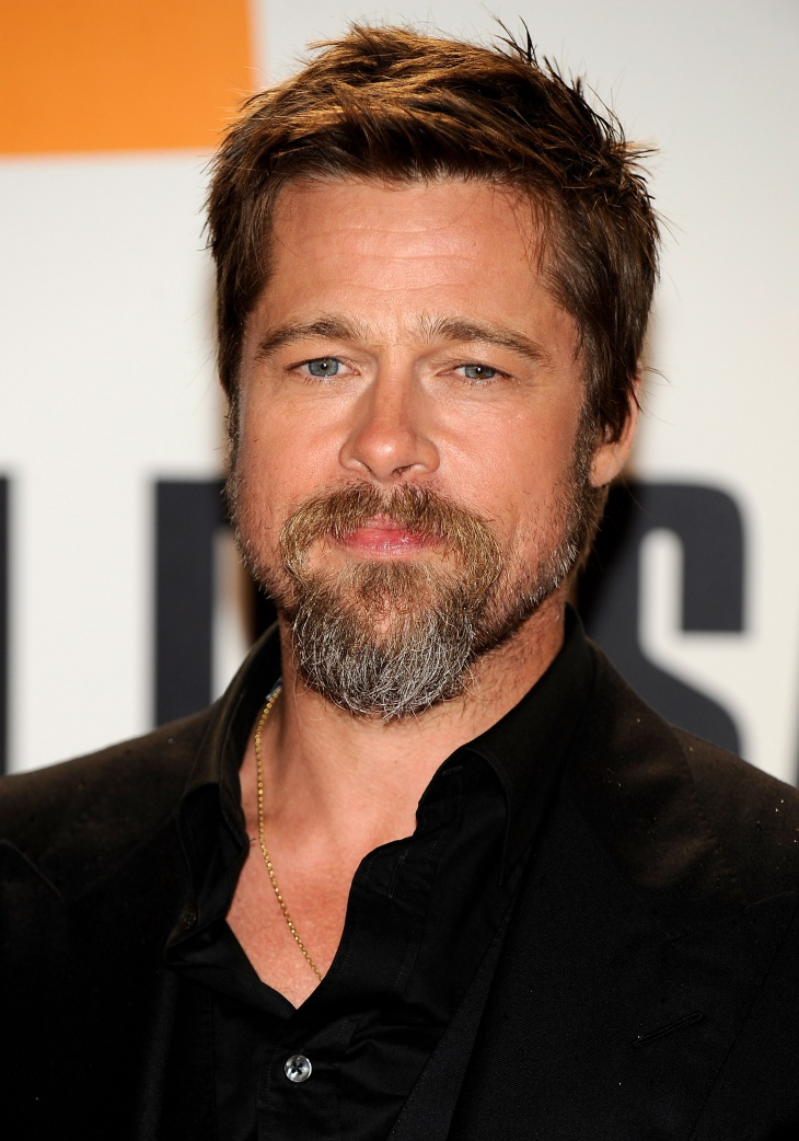 Brad Pitt Trendy Facial Hair Design