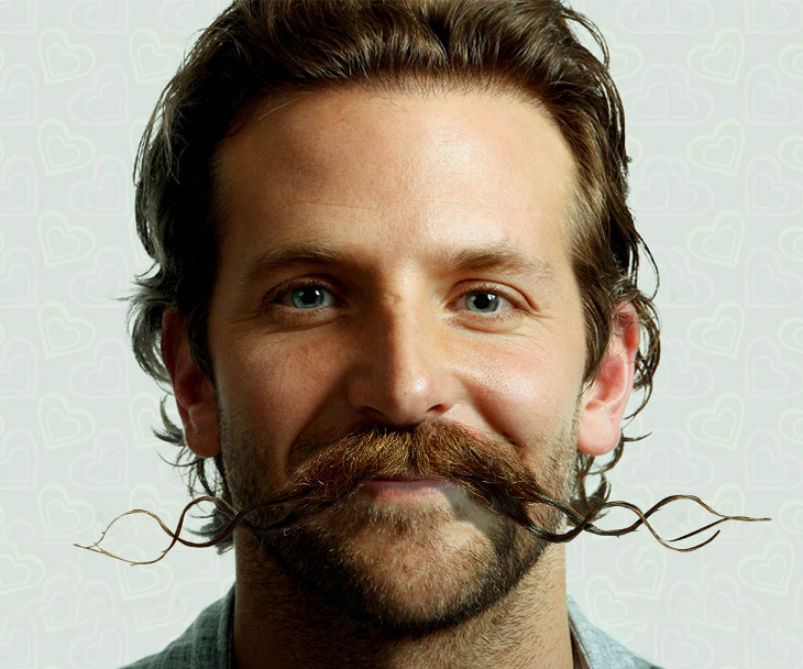 Bradley Cooper Upper Lip Facial Hair Design