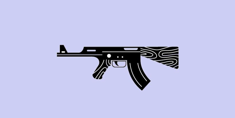 Black Gun logo Design