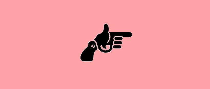 hip shot hand gun logo
