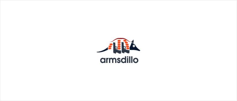 logo design armsdillo armadillo