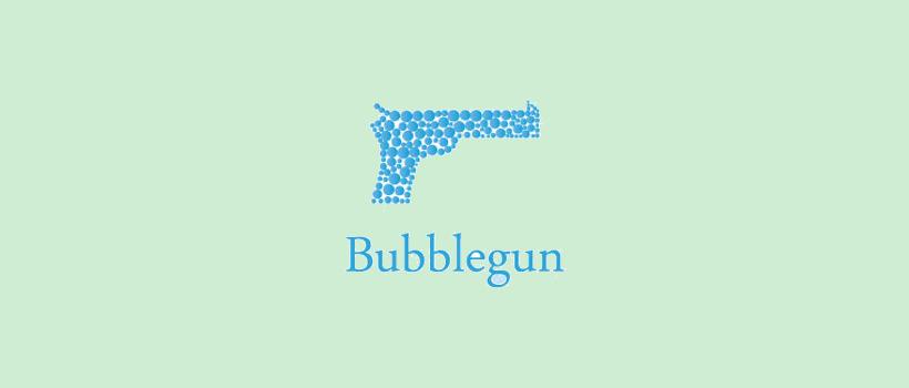 logo design bubblegun