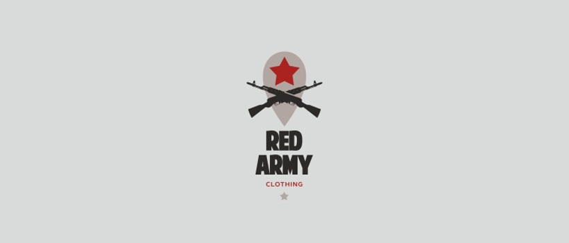 logo design red army clothing