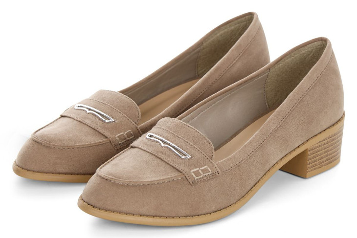Light Brown Mid Heel Loafers Idea