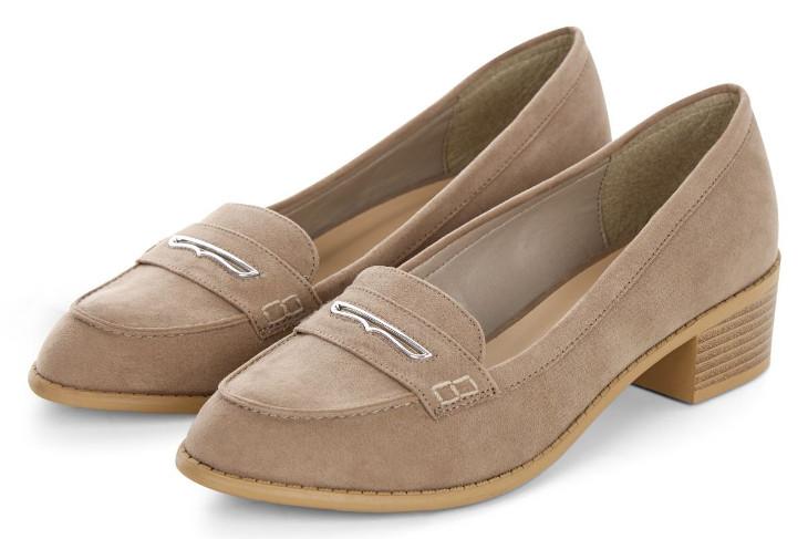 light brown mid heel loafers idea