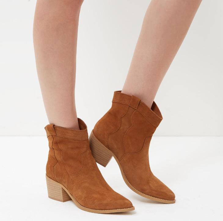suede mid heel shoes design