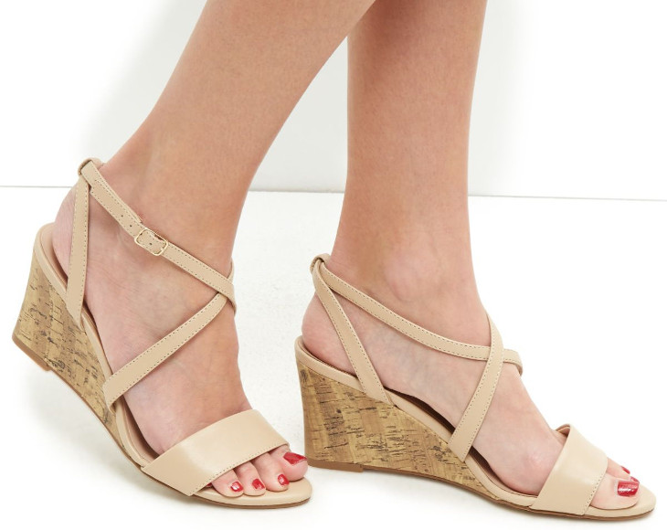 Cross Strap Mid Heel Shoes Design