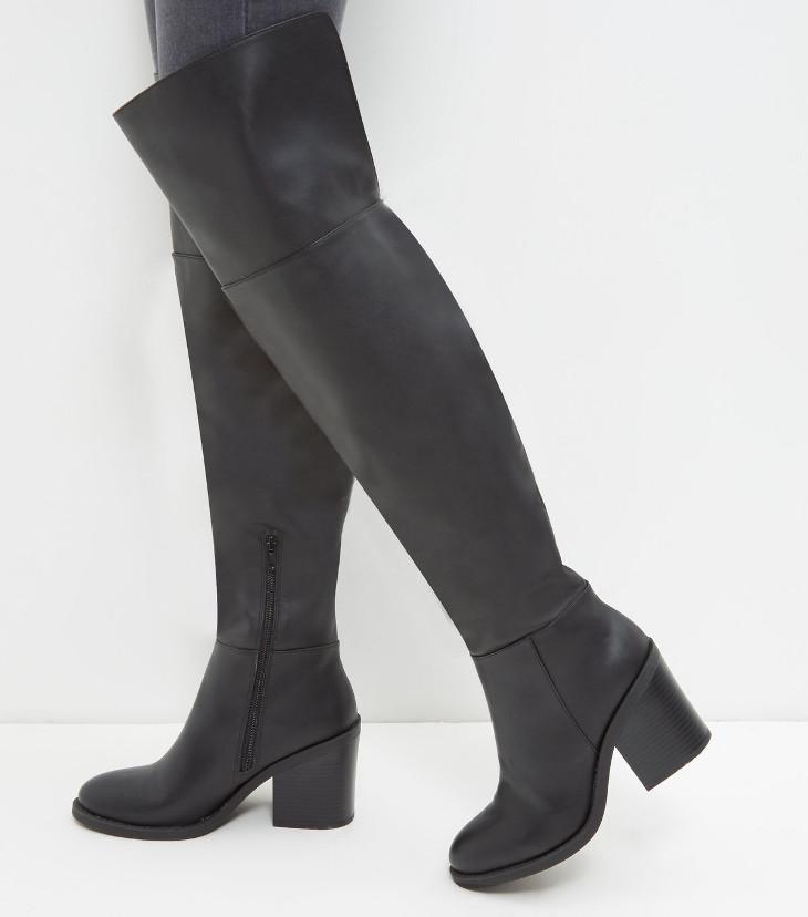 knee high mid heel shoes design1