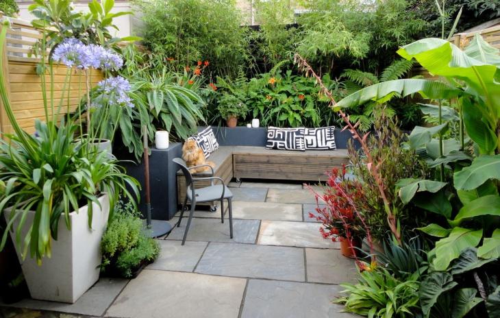 small contemporary patio design