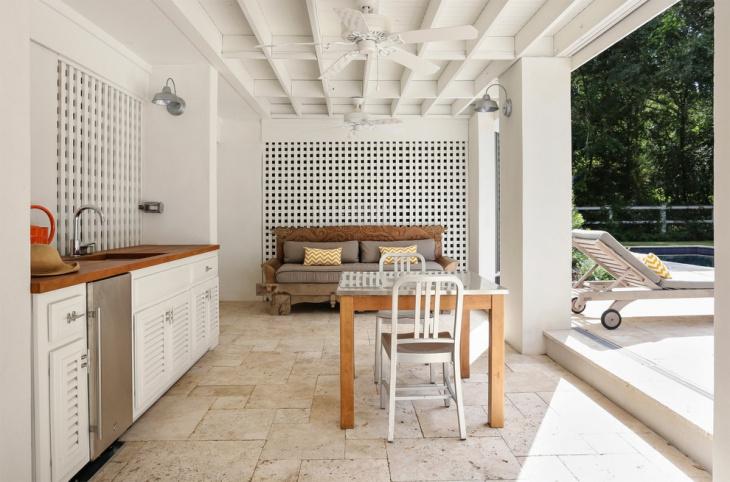 small covered patio design