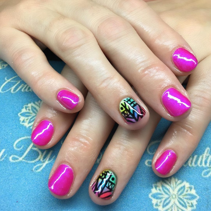 Aztec Shellac Nails Design