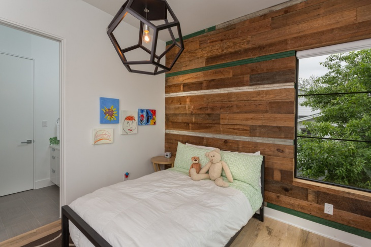 Kid's Room Wooden Wall Design