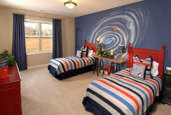 Traditional Kid's Bedroom Wall Design