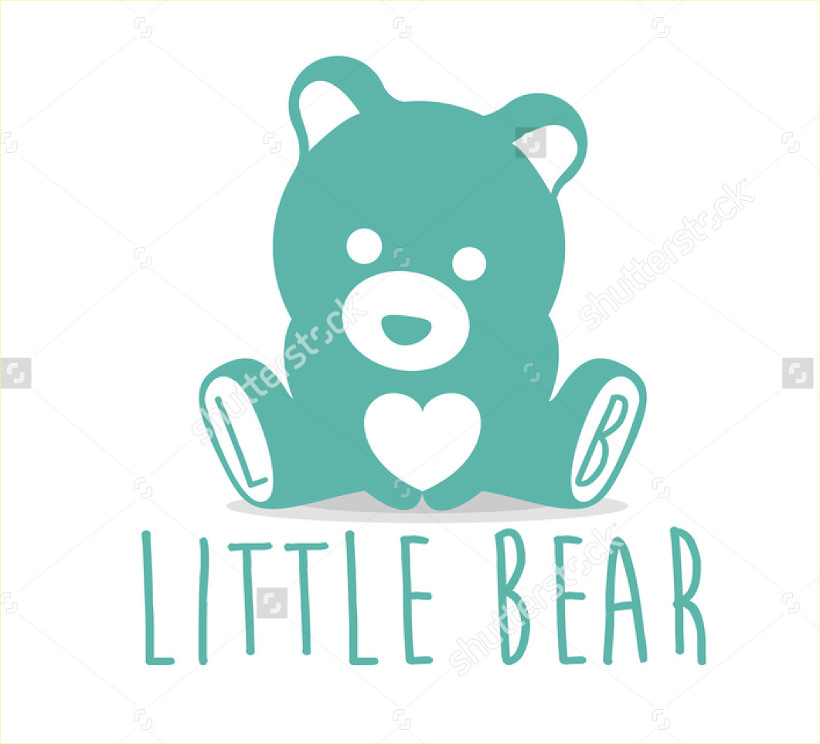 Little Bear Logo Cartoon