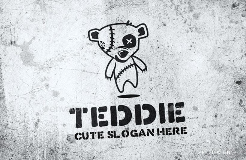 Teddie logo design