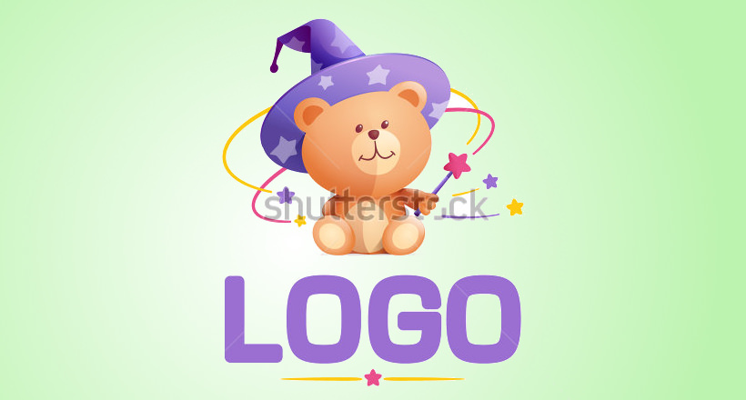 Teddy-bear character for logo