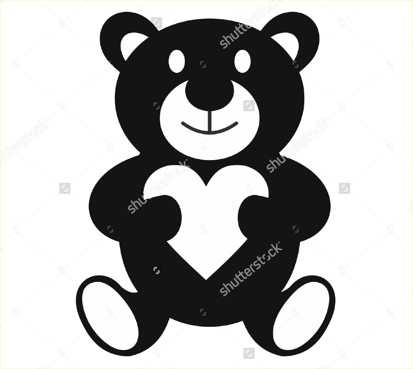 Teddy bear simple logo design