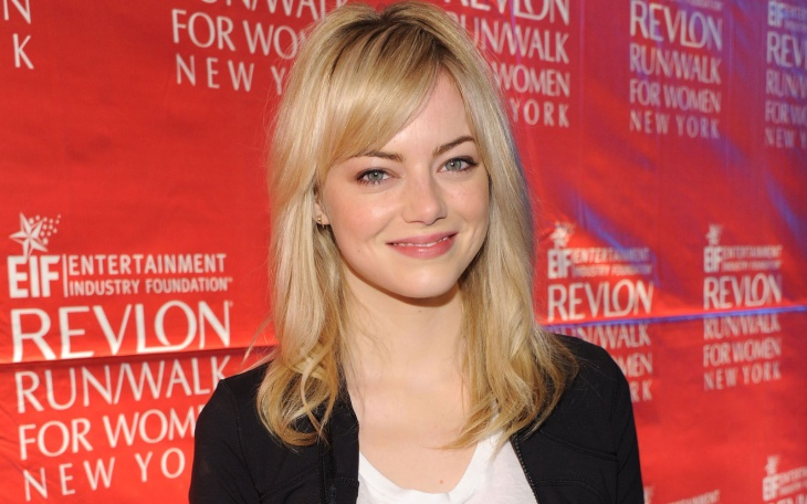 emma stone side bang hairstyle design