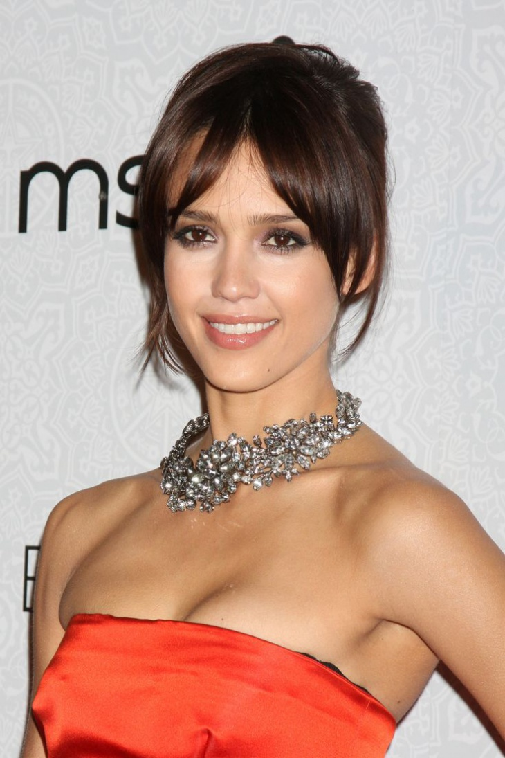 jessica alba bang hairstyle idea