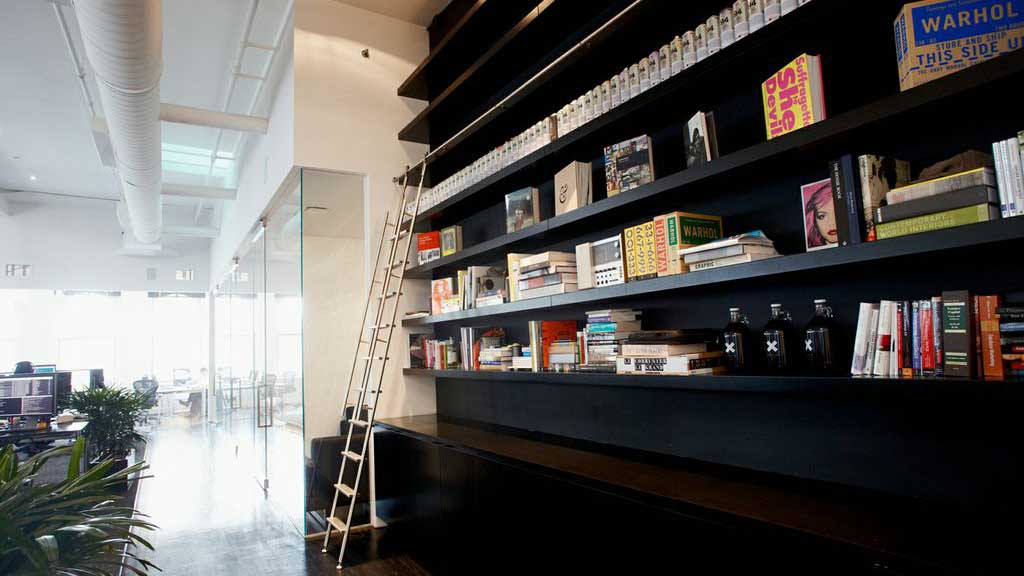 Office Wall Design With Books